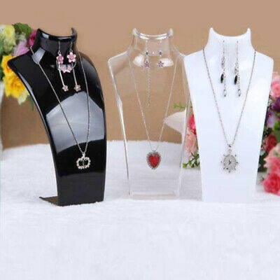 £7.79 • Buy 2X 210MM Necklace Stand Jewellery Retail Shop Tall Display Stand Bust Holder
