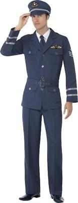 Adult 1940's Wartime Fancy Dress WW2 Air Force Captain Costume Complete Outfit • 32.99£