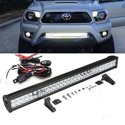 $48.79 • Buy Fit 05-15 TOYOTA Tacoma Bumper 30 Inch 180W LED Light Bar Offroad Driving Lamp