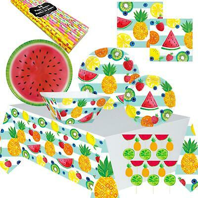 Fruit Salad Picnic BBQ Birthday Tropical Luau Pineapple Melon Summer Party Ware • 3.97£
