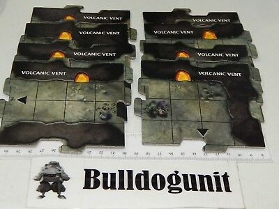 AU13.06 • Buy Dungeons & Dragons Legend Of Drizzt Game 8 Volcanic Vent Cavern Tiles Only