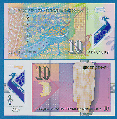 $0.99 • Buy Macedonia 10 Denar P New 2018 UNC Polymer Note, Low Shipping! Combine FREE!