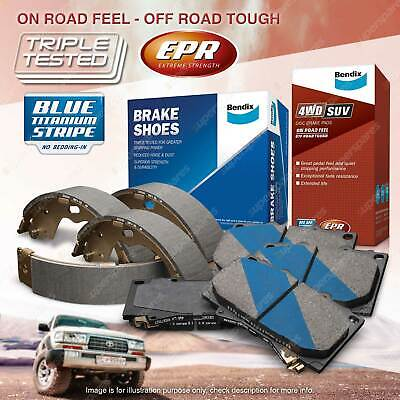 AU162.89 • Buy Bendix 4WD Brake Pads Shoes Set For Toyota Hilux KUN26 N70 Vigo 4WD AWD 2005-ON