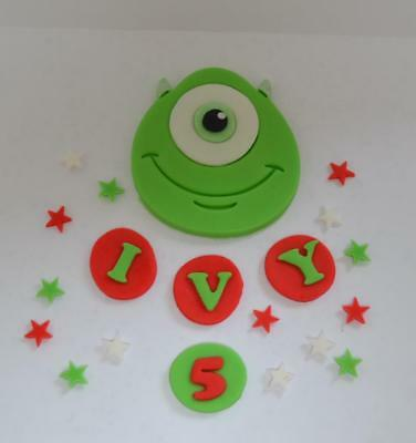 Handmade Edible Mike, Monsters Inc Style, Cake Topper, Birthday • 15£