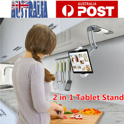 AU29.98 • Buy Tablet Stand Holder 2 In 1 Desktop Wall Mount Stand For IPad Air IPhone Samsung