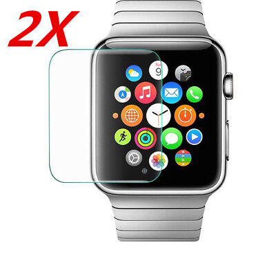 $ CDN1.67 • Buy 2x Tempered Glass Film Screen Protector For Apple Watch Series 3 2 1 38/42mm