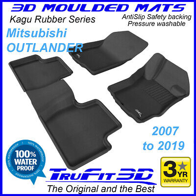 AU179 • Buy Fits Mitsubishi Outlander 2007 - 2020 3D Rubber Car Floor Mats  2R