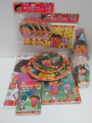 Dora The Explorer Birthday Party Set 9 Packages - Party Supplies Plates Cups Etc • 21.52£