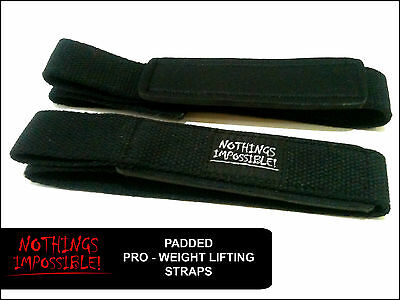 £3.99 • Buy Weight Lifting PADDED Straps Bodybuilding Powerlifting Deadlift Lifting Straps