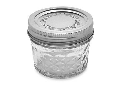 Ball Crystal Quilted Mason Jars 4 Oz Set Of 12, Glass Canning Jars ,jelly Fruits • 19.99$