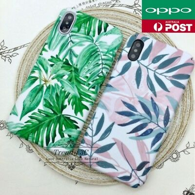 AU8.99 • Buy For OPPO AX7 A3s AX5 A57 A73 R11 R15 Plus Leaves Pattern Flowers Hard Case Cover