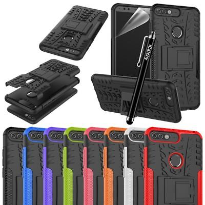 For Huawei Y7 2018 Case, Heavy Duty Armour Tough Quality Shock Proof Cover Pouch • 4.45£