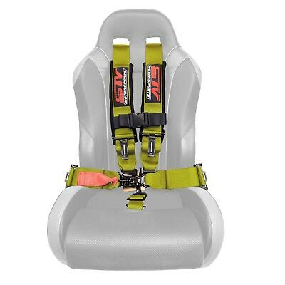 $ CDN112.97 • Buy STV Motorsports Seat Belt Harness Shoulder Pads Latch And Link 5 Point 2  Yellow