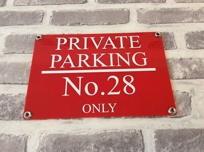 PERSONALISED CUSTOMISED ACRYLIC PRIVATE NO PARKING SIGN WEATHERPROOF - 3 X Sizes • 7.99£