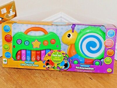 £15.99 • Buy The Learning Journey Early Learning Little Piano Tunes & Pull Along Snail Drum.