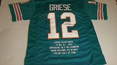 $ CDN200 • Buy  The Great Bob Griese Miami Dolphins Signed Custom Stat Jersey W/jsa Coa