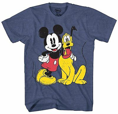 $19.99 • Buy Mickey Mouse Pluto Distressed Disney Disneyland Adult Mens Graphic T-shirt Tee