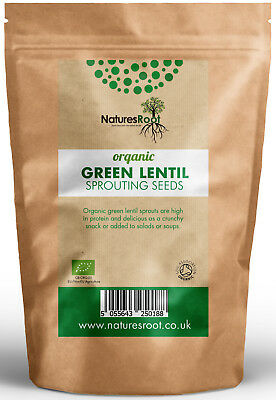 £12.99 • Buy Organic Green Lentil Sprouting Seeds - Microgreen Sprouts Vegetable Legume