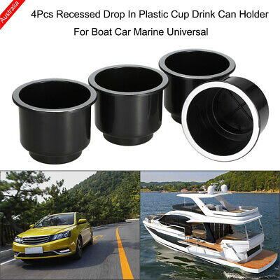AU15.97 • Buy 4Pcs / Set Cup Drink Holder For Boat Car RV Marine Yacht Recessed Drop Holder