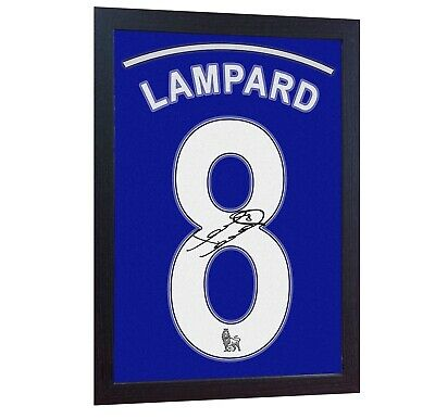 Frank Lampard Chelsea Signed Autograph Printed On CANVAS 100% Cotton Framed • 18.99£