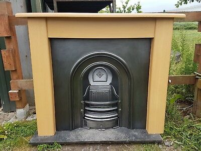 155 Cast Iron Fireplace Fire Arch Arched Antique Victorian Style Surround Old • 495£