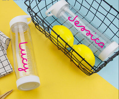 Personalised Water Bottle Sticker Love Fitness Park Gym Island Any Name Gift • 1.99£