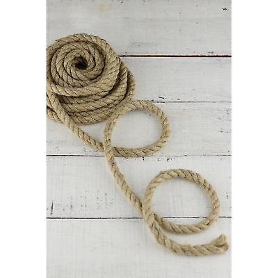 Natural Jute Rope Strong Twisted Decking Cord Garden Sash Camping 6mm - 60mm • 1.46£