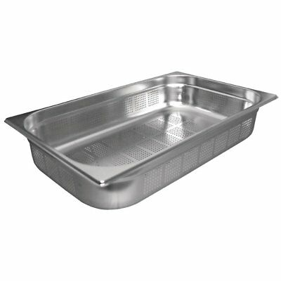 £11.99 • Buy Stainless Steel 1/1 Size PERFORATED Gastronorm Pan Bain Marie Pot Choose