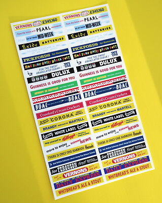DINKY BUS 290 29c Vintage Advertising CODE 3 Stickers Decals HO OO 76th Scale • 10.95£