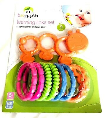 BABY PIPKIN Learning Links Set Colourful Baby Toddler Teething Toy 6months+ • 4.90£
