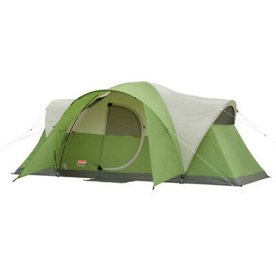 AU245.14 • Buy Coleman 8-Person Modified Dome Tent Camping Shelter Hiking Beach Outdoor Sleep