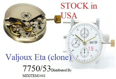 $165 • Buy New ! 7750 Automatic Day Date Chronograph Clone Movement For Eta Valjoux Substit