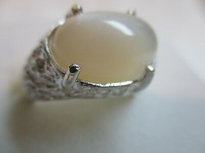 $45.99 • Buy Mens Or Ladies 9.34ct Moon Stone Oval Cut Handsome  Sterling .925 Ring
