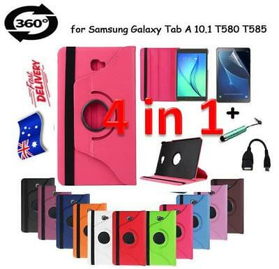AU4.99 • Buy 360 Rotating Skin PU Leather Case Cover For Samsung Galaxy Tab A 10.1 T580 T585