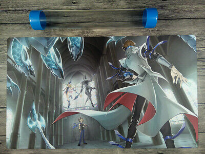 AU32.37 • Buy YuGiOh Dark Magician & Blue Eyes White Dragon Playmat Mat Free High Quality Tube