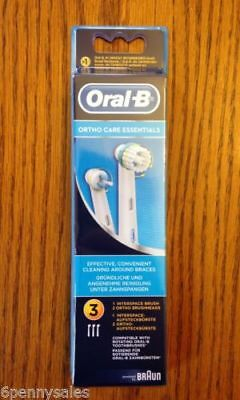 AU27.36 • Buy Oral-B ORTHO Replacement Refill Brushes Toothbrush Heads For Braces & Invisalign