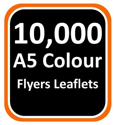 £170 • Buy A5 Flyers/Leaflets 10,000 130gsm Double Sided - FREE Nationwide Delivery!