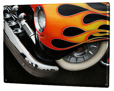 £9.52 • Buy Tin Sign XXL Garage  Classic Flame Gas Stations Vintage