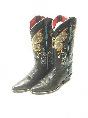 $169.99 • Buy Ladies Macie Bean Boots, Snip Toe W/Butterfly Embroidery, Style M8020