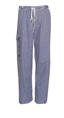 Highliving Checked Chefs Work Trousers Catering Trousers  Soft Egyptian Cotton  • 13.99£