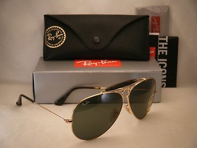 02767dac662 Ray Ban 3138 Shooter Gold W Green Crystal (G-15) Lens (RB3138