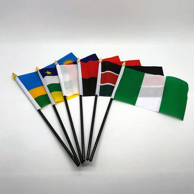 Hand Table Flag AFRICA Flags ALL COUNTRIES Without Base Country Displa 6 X 4 UK • 2.89£