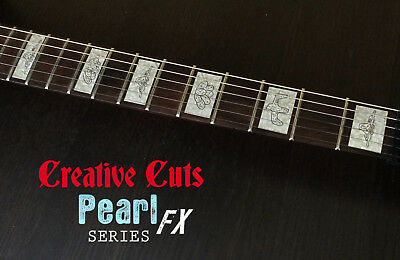 Aged Pearl Blocks Fretboard Marker Vinyl Inlay Decal For Gretsch BASS And GUITAR • 14.78£