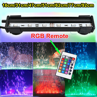 TOP Fish Tank RGB Color Changing Bubble LED SMD Aquarium Air Light Submersible • 13.99£
