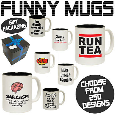 Funny Mugs Novelty Mug - Perfect Birthday Office Cup Drink Gifts - Gift Boxed • 5.95£