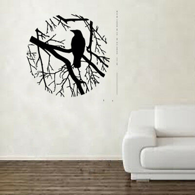 Birds On Branch Oval Wall Art Sticker Shabby Chic Vintage Retro BB20 • 12.99£