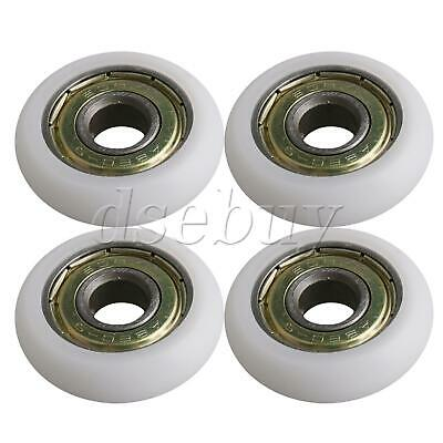 $9.02 • Buy 4 X White Ball Bearing Guide Pulley Roller Round Wheel 8x30x8.5mm For Window