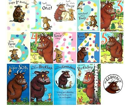 £3.25 • Buy Official GRUFFALO Birthday Greeting Card ~ Ages 1 2 3 4 5th Son Brother Grandson