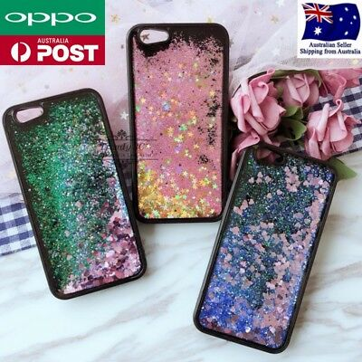 AU9.95 • Buy OPPO A57 R9s R11s Plus R15 Liquid Sparkle Glitter Dynamic Bling Case Cover