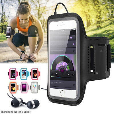 For Samsung Galaxy S9 S10 S20 Running Jogging Sports Gym Armband Case Holder Bag • 8.99£